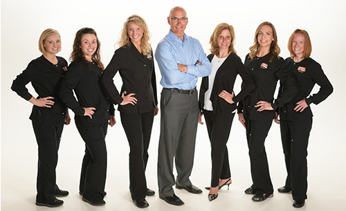 From left to right: Lisa, Sarah, Suzy, Dr. Mike, Dr. Angela, Brooke, Brandi