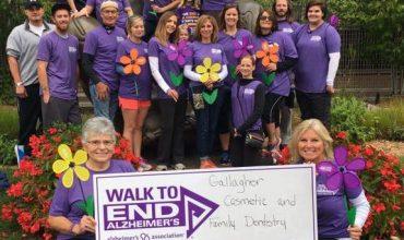 Gallagher Team Walks to End Alzheimer's