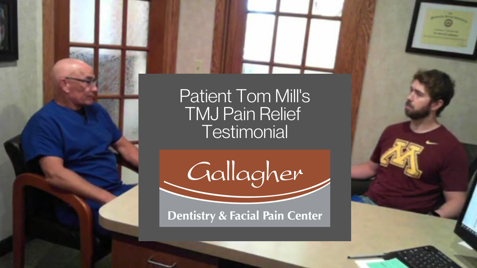 Patient Tom Mill's Dramatic Decrease in TMJ Jaw Pain